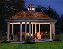 8' x 16' Vinyl Elongated Hexagon Belle Gazebo