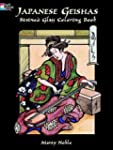 Japanese Geishas Stained Glass Colori...