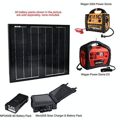 Instapark 30-watt Solar-powered Battery Charger for Instapark Mars20S, DRPP600 Powerpack Series & Wagan Power Dome Series