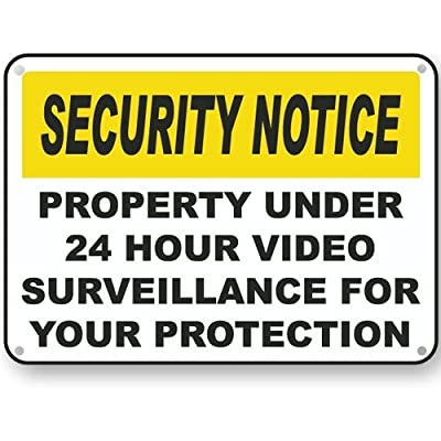 Video Surveillance Sign. Avoid Intruders Using Large 10 x 14 Inch Warning-USA Made UV Printed With Professional Graphics-Easy To Mount Indoors & Outdoors by WINN