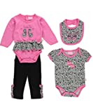 "Duck Duck Goose Baby Girls' ""Cutie Pie"" 4-Piece Layette Set - pink, 0 - 3 months"