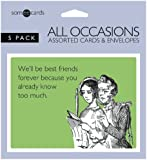 Someecards All Occasion Assorted Greeting Cards - Pack of 5