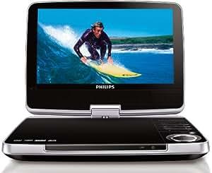 """Philips PD9060 Lecteur DVD portable DivX Ecran 9"""" Lecteur des cartes + Kit voiture inclus"""