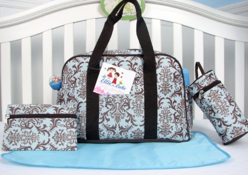 Soho Pink And Brown Capire 4 In 1 Diaper Bag (Blue And Brown) front-718702