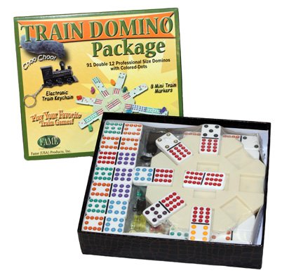 Domino Package Double Twelve - Mexican Train and Chicken Foot Domino - Dotted Pieces