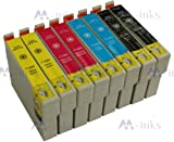 8x Ink Cartridges Compatible for Epson SX125 - Also compatible with Printers Epson Stylus Office BX305F BX305FW BX305FW Plus Epson Stylus S22 SX125 SX130 SX230 SX235W SX420W SX425W SX430W SX435W SX438W SX440W SX445W - Latest Version Chip - T1281 T1282 T1