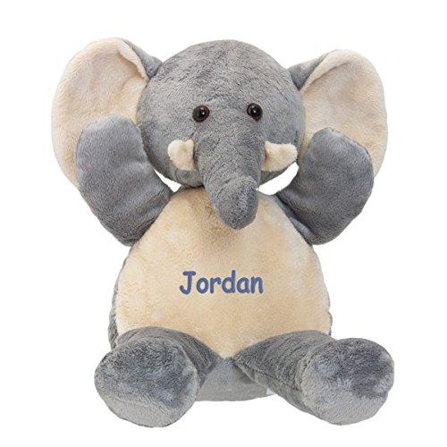 Personalized Premium Plush Elephant - Blue Embroidery, Jordan