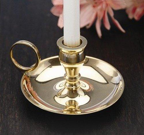 Biedermann & Sons Brass Chamberstick Candle Holder, 2