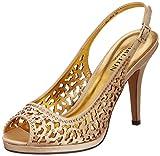 Carlton London Women's Jeanna Gold Fashion Sandals - 3 UK  (CLL-2916)