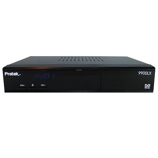 Protek 9900LX HD E2Linux Récepteur satellite avec connexion LAN (DVB-S, HDMI, péritel, Ethernet, USB, Full HD 1080p)