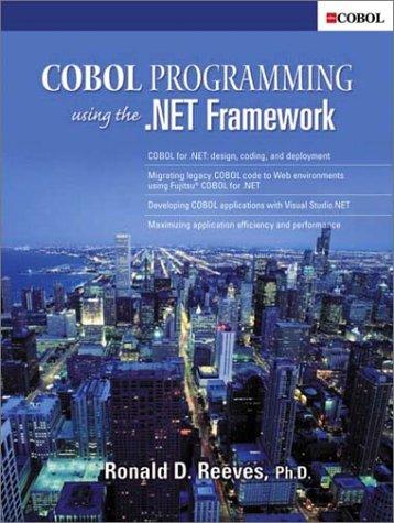 Cobol Programming Using.NET Framework