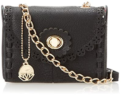 BIG BUDDHA Petunia Cross Body Bag,Black,One Size