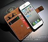 iPhone5/5S ケース スマホケース レザー 手帳型 スタンド 横開き ブラック