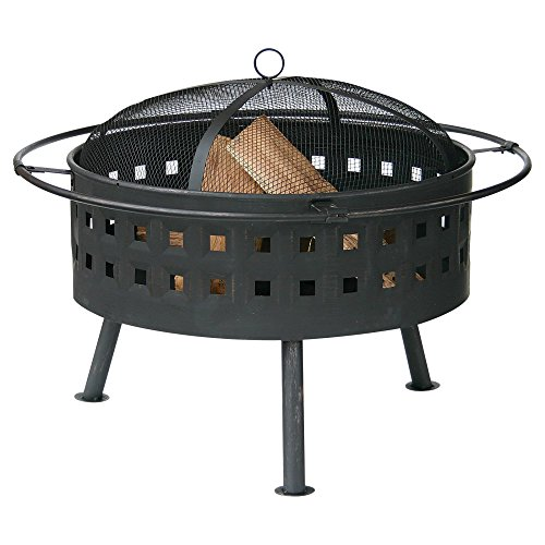 Uniflame-32-in-Round-Wood-Burning-Fire-Bowl-with-Lattice-Design