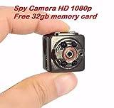 HD 1GB TF Sport Spy Card Mini Camera SQ8 1080P 720P Camera DV DC Audio Video Recorder Infrared Night Vision Digital Smallest Cam FREE 32GB memory card