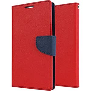 Quickshoppe Flip Cover For Samsung Galaxy Core 2 G355-Red