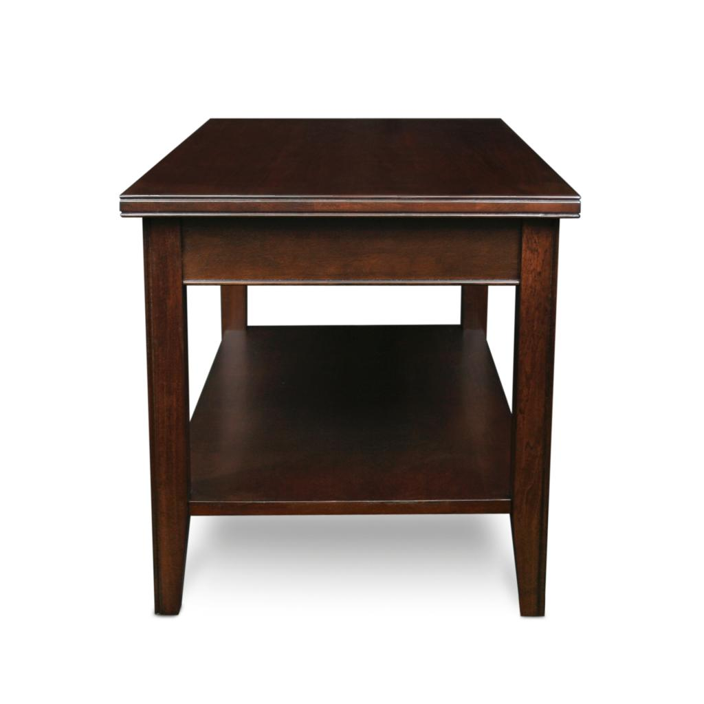 Leick laurent condo apartment coffee table cherry wood coffee table Coffee table and side table