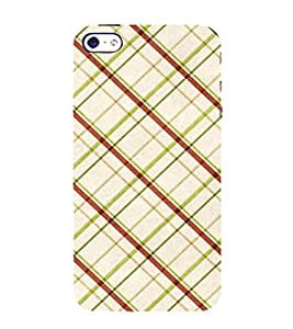 Cross Checks In Multi Colour Pattern 3D Hard Polycarbonate Designer Back Case Cover for Apple iPhone 4 :: Apple iPhone 4S