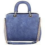 Aadaana Ruched Women's Blue Hand-held Bag