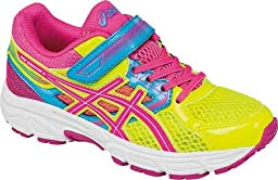 ASICS Pre Contend 3 PS Running Shoe (Little Kid/Little Kid), Flash Yellow/Hot Pink/Turquoise, 3 M US Little Kid