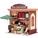 福美康(FUMEIKANG) ミニチュア ドール ハウス DIY コーヒーショップ カフェ 組み立て キット ハンドメイド 手作り お店シリーズ (コーヒーショップ)