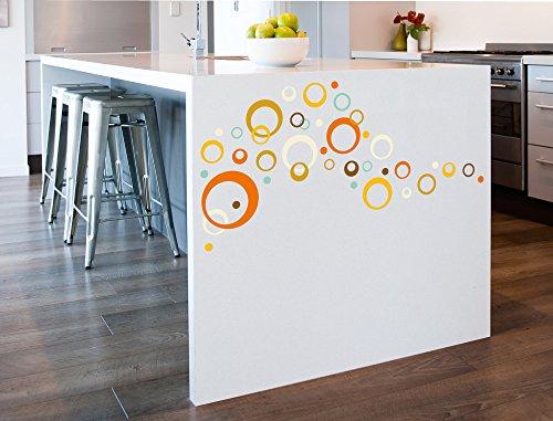 i love wandtattoo was 10149 kinderzimmer wandsticker set retro dots in orange mint und gelb. Black Bedroom Furniture Sets. Home Design Ideas