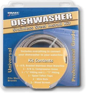 Smart Choice 5305516519 / B5305516519 6 ft Stainless-Steel Dishwasher Installation Kit