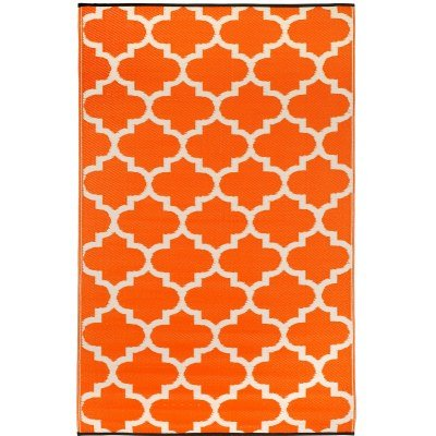 Fab-Habitat-Tangier-IndoorOutdoor-Rug-3-by-5-Feet-Carrot-and-White