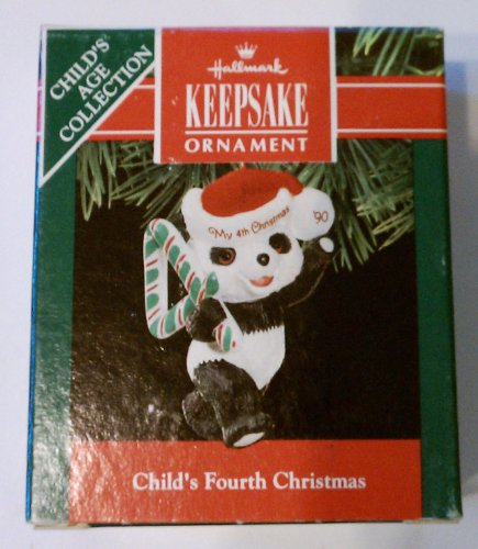 Childs fourth 4th Christmas 1990 celebrate the teddy bear years panda bear - 1