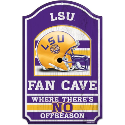 NCAA Louisiana State Fightin Tigers 11-By-17-Inch Fan Cave Wood Sign at Amazon.com