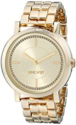 Nine West Women's NW/1642CHGB Gold-Tone Bracelet Watch