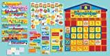 Scholastic SC939405 All-In-One Schoolhouse Calendar Bulletin Board
