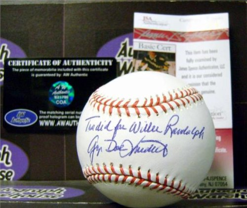 Autograph Warehouse 104531 George Doc Medich Autographed Baseball Inscribed Traded For Willie Randolph Jsa (Randolph Wi compare prices)