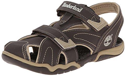 TimberlandActive Casual Sandal FTK_Adventure Seeker Closed Toe Sandal - Sandali aperti Unisex - Bambini , Marrone (Braun (Brown With Tan)), 27