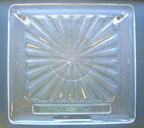 "Vintage Pre Owned Amana Radarrange Microwave Glass Plate 14 1/2"" X 13 5/8"" back-598764"
