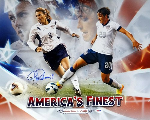 Mia Hamm Team USA Autographed PSA/DNA Authenticated Team USA 16x20 Photo - Signed Photos