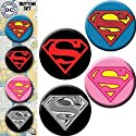 "Licenses Products DC Comics Originals Superman Assorted Artworks 1.25"" Button Set, 4-Piece"
