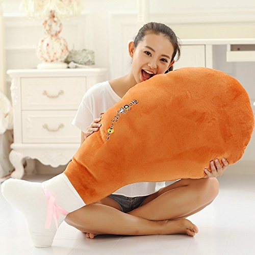 1pcs 90CM Big Plush Cute Chicken Leg Giant Large Stuffed Food Soft Plush Toy Doll Pillow Cushion Birthday Holiday Girl Daughter Gift (Giant Chicken Plush Toy compare prices)