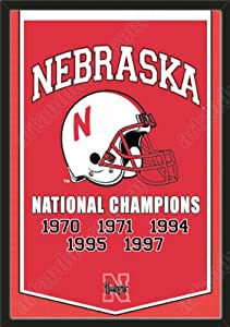 Dynasty Banner Of Nebraska Huskers-Framed Awesome & Beautiful-Must For A... by Art and More, Davenport, IA
