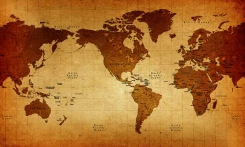 world map wallpaper mural. Old World Map Wall Mural