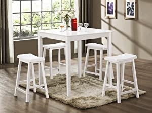 Bruton 5 Piece Counter Height Table Set - Coaster 150294N