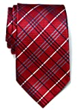 Retreez Tartan Plaid Check Styles Woven Microfiber Mens Tie - Various Colors