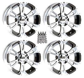 ITP SS112 ATV Wheels/Rims Machined 12″ Honda Foreman Rancher SRA Solid Axle (4)