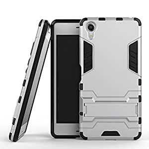 Sony Xperia X Performance Case, Ziaon(TM) [Kickstand Feature] Heavy Duty Hybrid Dual Layer Armor Defender Full Body Protective Case Cover for Sony Xperia X Performance, Sony Xperia X Performance Dual - Silver