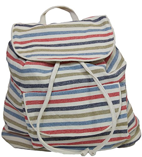 Carolina Sweethearts Cotton Lightweight Backpack Daypack Multi Stripe (Clear Garment Bags 16x25 compare prices)