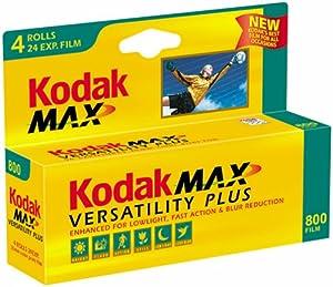 Kodak Gold Max 800 Speed 24 Exposure 35mm Film (4 Pack)