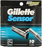 Gillette Sensor Cartridges 10 Refill Blades