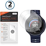 Garmin Forerunner 225 Screen Protector, BoxWave® [ClearTouch Anti-Glare (2-Pack)] Anti-Fingerprint Matte Film Skin for Garmin Forerunner 225