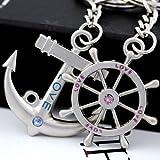 Maycom® Anchor Steering Wheel Couple Keychain Creative Fashion Key Chain Ring Key Fob Holder 83084