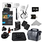 GoPro HERO3+ Black Edition Camera (CHDHX-302) + Action Pro Series All In 1 Car Kit Designed for Car Mount - OFF ROAD, TRUCK, SPORTSCAR, RV, BOAT, CAR, WINDSHEILD, DASHBOARD, MOTORCYCLE, snowmobile + Extra Necessary Accessories